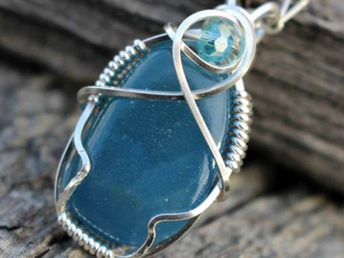 blue calcite front