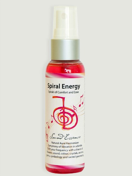 Spiral Energy Aura Harmonizer mist works with the geometric patterns of nature to facilitate peace, ease and emits an energy of love and wholesomeness.
