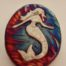 Raku Mermaid Medallion- the perfect small and affordable gift for yourself or a loved one!