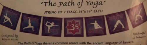 These Path of Yoga prayer flags are perfect for any yoga studio or space where mindfulness is practiced. They can grace indoors or outdoors.