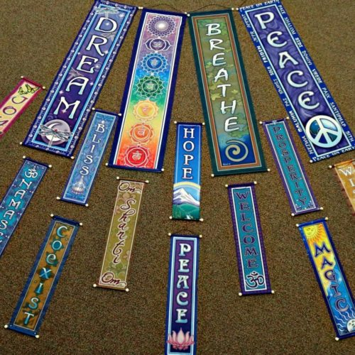 Affirmation Banners | Prayer Flags | Inspirational Wall Hangings