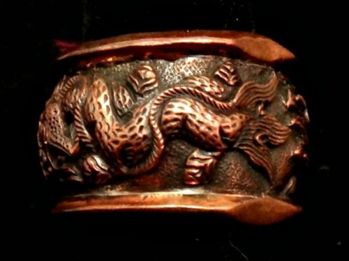 Pitango copper dragon ring