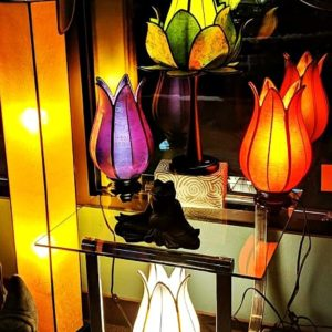 Fair Trade Silk Lamps