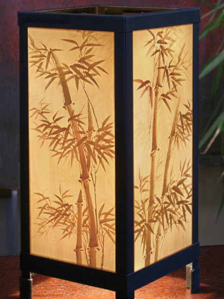 lamp porcelain, bamboo design